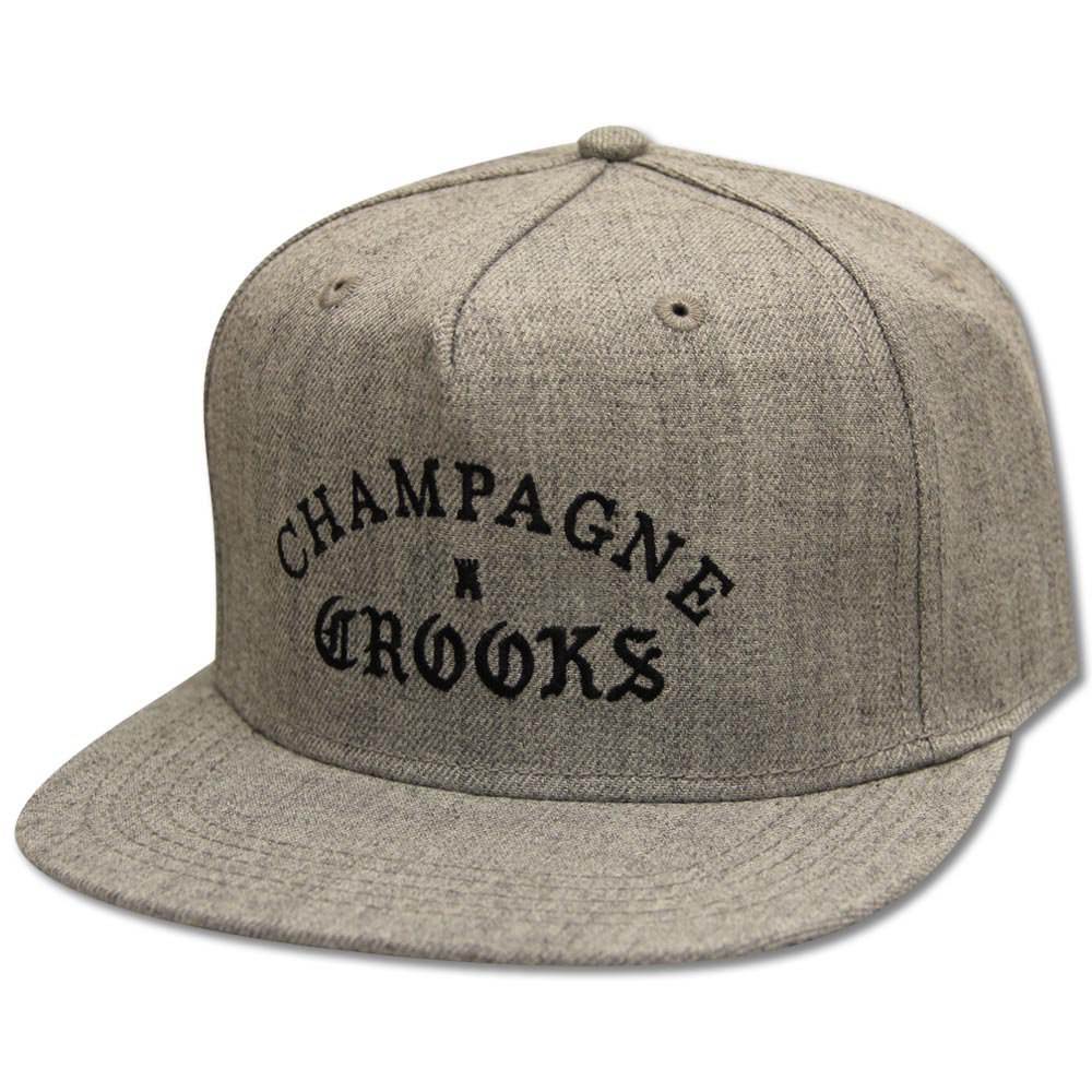 Crooks & Castles Champagne Crooks Snapback Speckle Grey