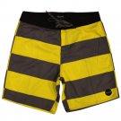 Brixton Generator Shorts Yellow Charcoal