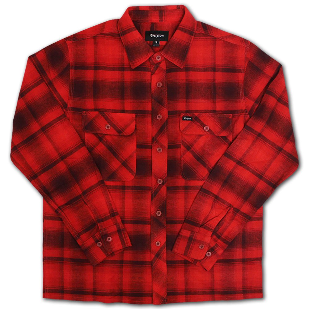 Brixton Archie Flannel L/S Shirt Red Burgundy