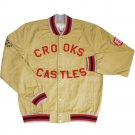Crooks & Castles Sportsman Stadium Jacket Khaki