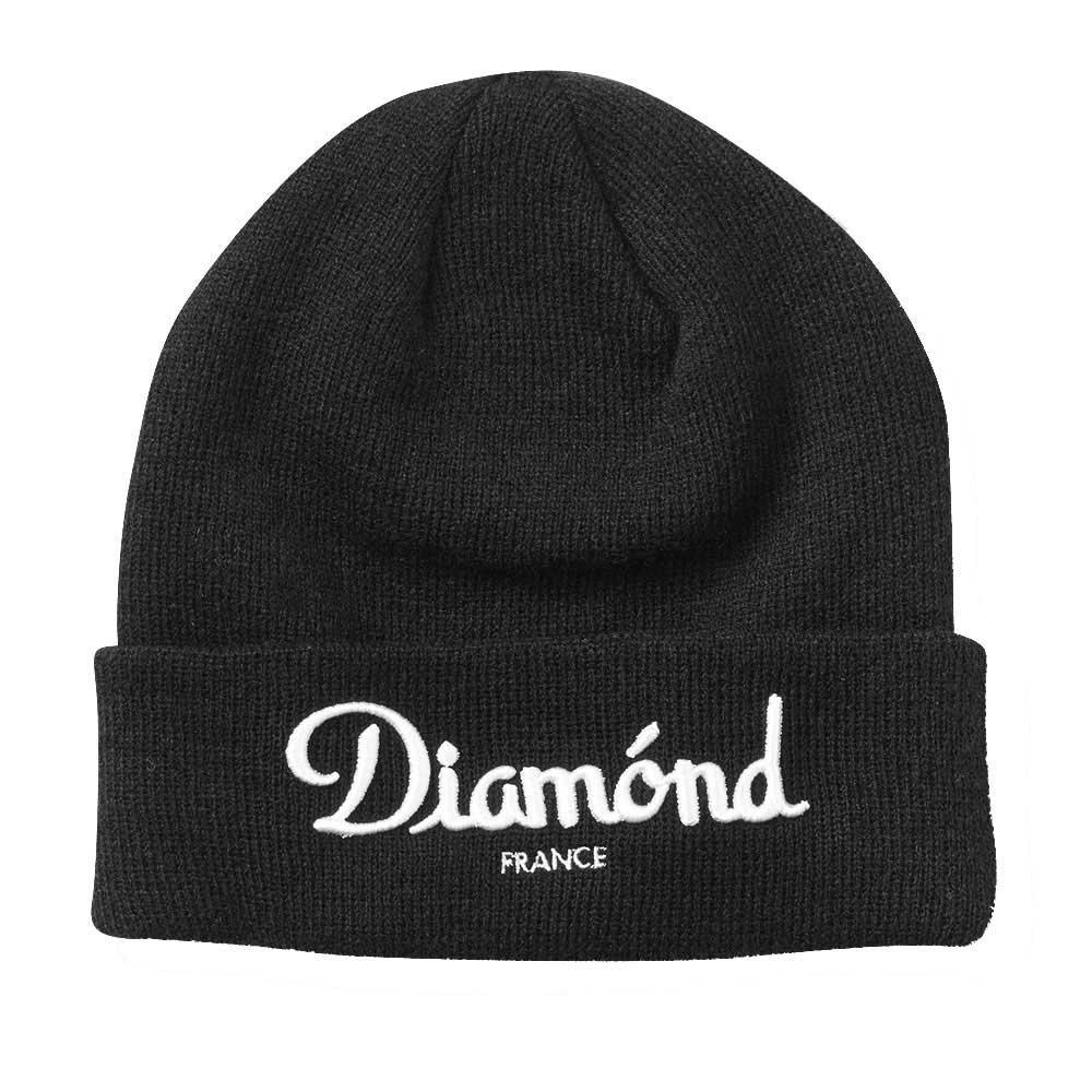 Diamond Supply Co Champagne Beanie Black