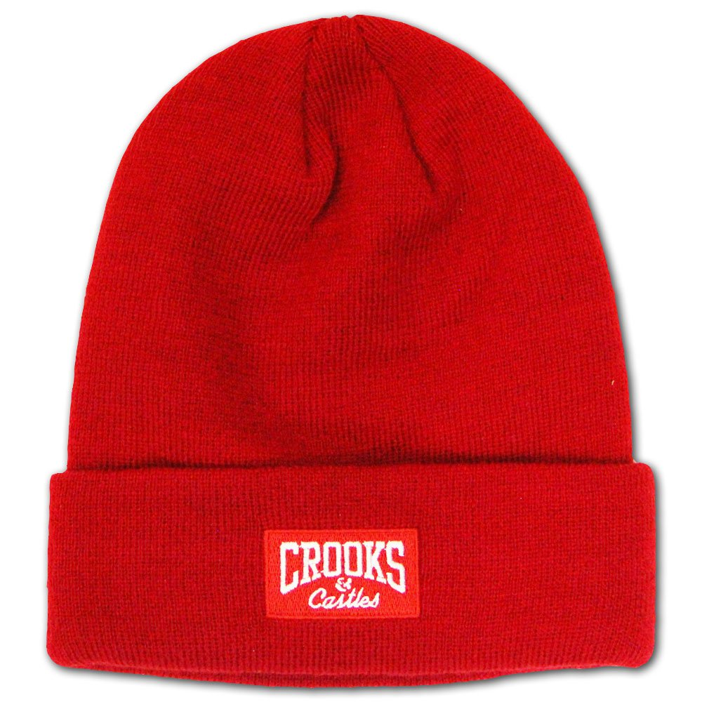 Crooks & Castles Core Logo Beanie True Red
