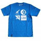 Lrg RC Logo Mash Up T-shirt Electric Blue