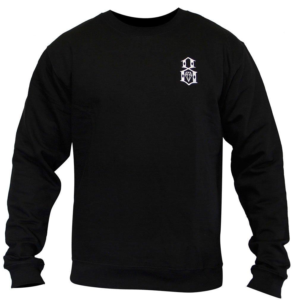 Rebel8 Logo Embroidered Sweatshirt Black