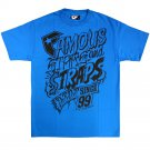 Famous Stars and Straps Letter Up T-shirt Turquoise Black