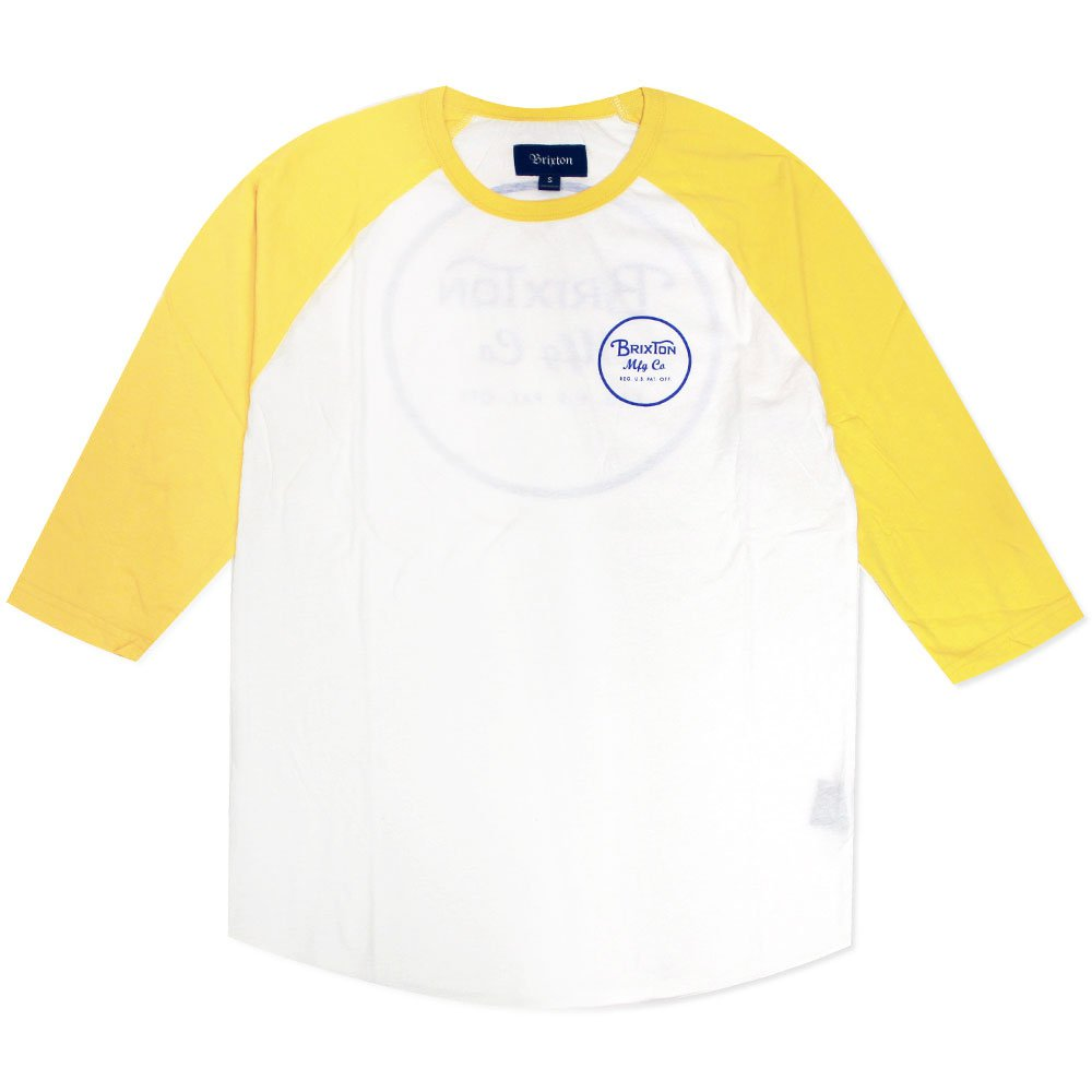 Brixton Wheeler T-Shirt White Yellow
