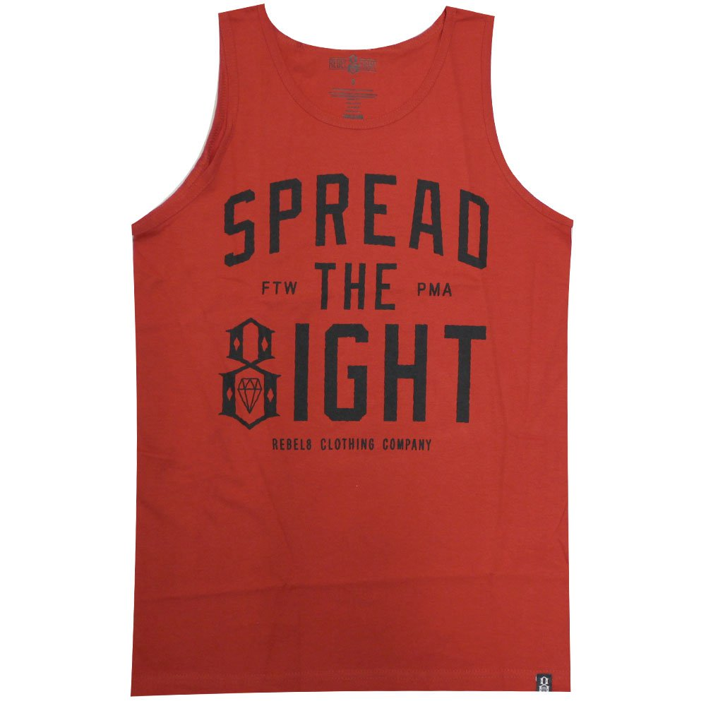 Rebel8 Spread The Eight Tank Top Red