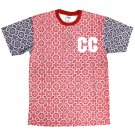 Crooks & Castles Venetian Crew T-Shirt Red Navy