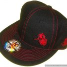 Dark n Cold Capman Lowkey Fitted Baseball Cap Black Red