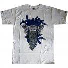Crooks & Castles Crackle Medusa T-Shirt White Navy