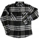 Brixton Bowery Flannel Shirt Grey Black