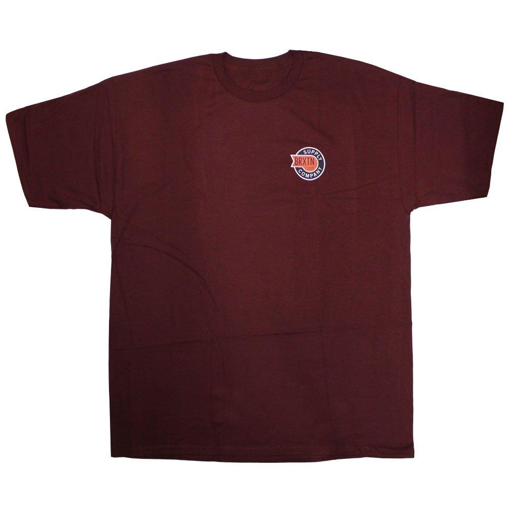 Brixton Ltd Sledd T-Shirt Burgundy
