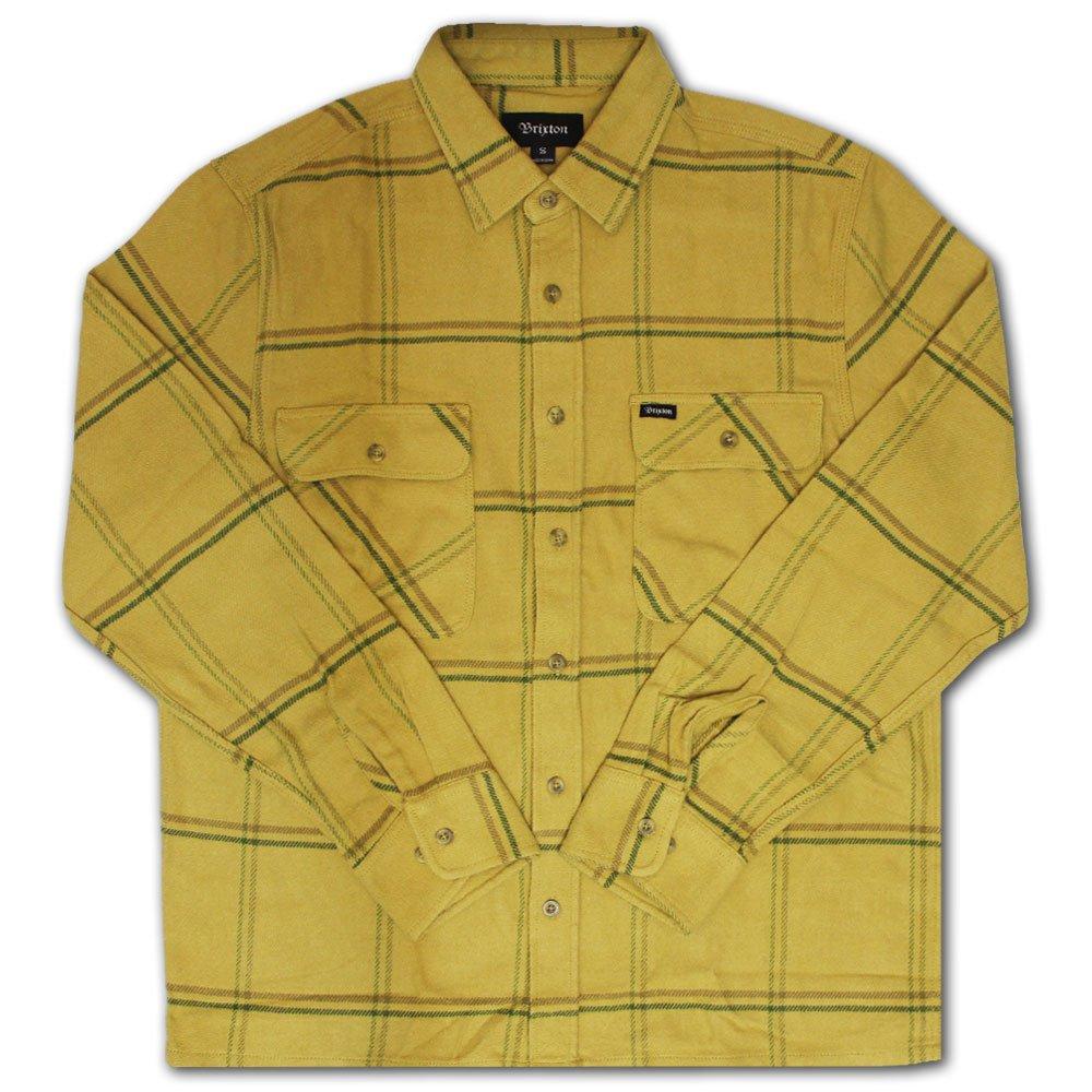 Brixton Archie Flannel Shirt Yellow