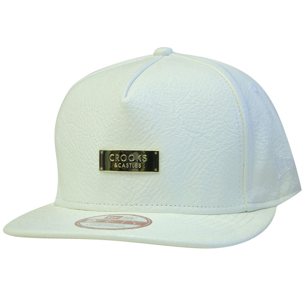 Crooks & Castles Thuxury Crooks Strapback Baseball Cap White