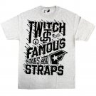 Famous Stars and Straps Twitch Spill T-Shirt Athletic Heather Black