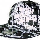 Dark n Cold All Over Print Baseball Cap White Black