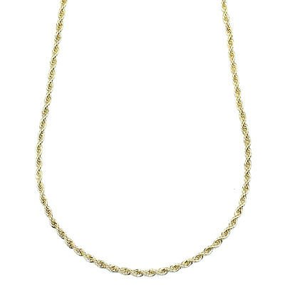 Gold Plated RUN DMC HIP HOP Rope Chain, Dookie Chain FILLED 3mm X 24 Inches