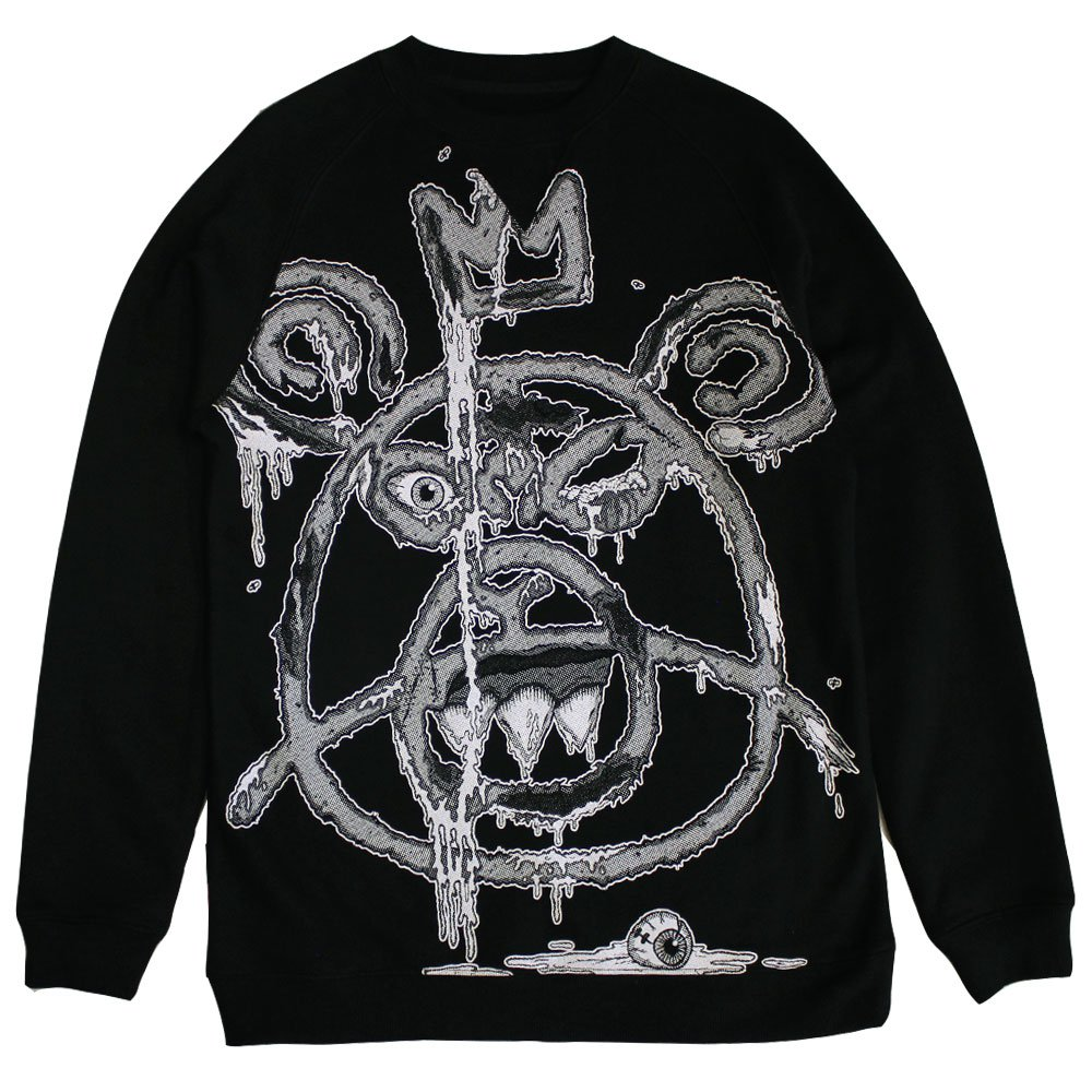 Mishka Oversized Guts Mop Sweatshirt Black