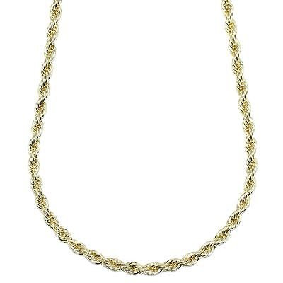 Gold Plated RUN DMC HIP HOP Rope Chain, Dookie Chain FILLED 5mm X 24 Inches