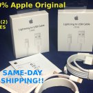 2x Apple Lightning USB Charger Cable Genuine Original iPhone 7 6s 6 Plus 5s 5C SE