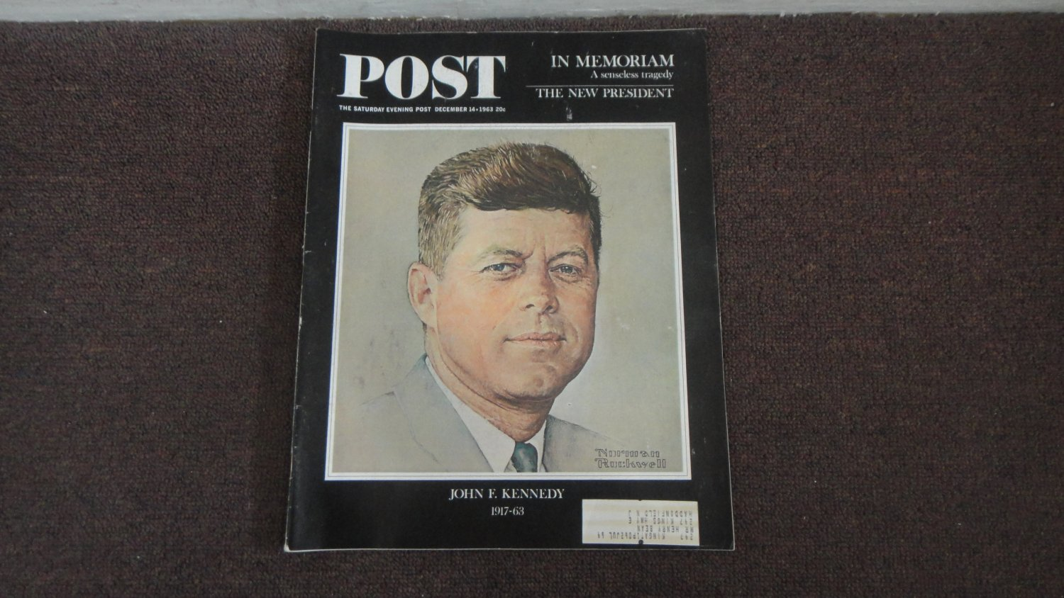 POST Magazine John F Kennedy Cover Dec 14 1963 Nice Condition LOOK