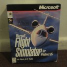 Microsoft Flight Simulator for Win. 95, As Real as it gets, in RARE BIG BOX. Look!