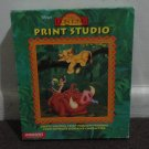 "DISNEY'S The Lion King Print Studio Windows 3.1. 3.5"" HD, in big retail box. LOOK!"