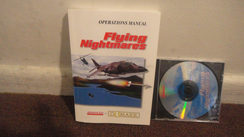 Flying Nightmares (MAC-CD, 1994) for Power Macintosh - MANUAL - cd is flawed