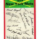 1974 Topps Red Checklist Mets Red Team Checklist Mets EX/MT...LOOK!!