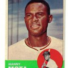1963 Topps Manny Mota RC nrmnt-mint condition...LOOK!!