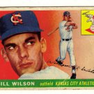 1955 Topps Bill Wilson #86, Not in good condition.....LOOK!!
