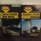 Lot of 2 Train VHS Tapes, Southern Pacific Steam, Union Pacific Big Boys. LOOK!!