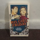 HIS GIRL FRIDAY - W/Cary Grant and Rosalind Russell (VHS, 1991), New Sealed.