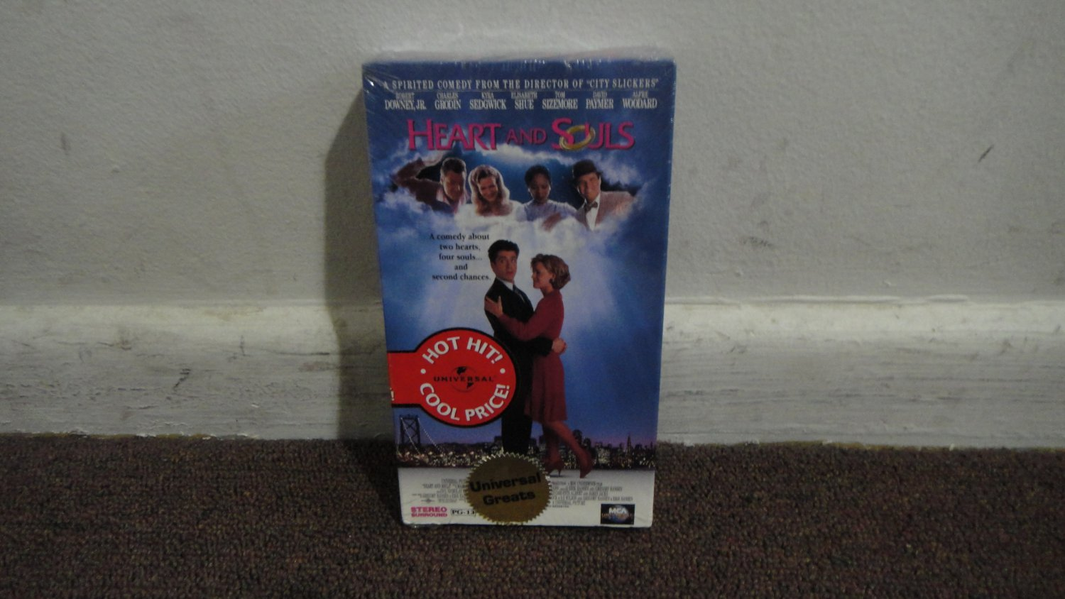 HEART and SOULS - A COMEDY ABOUT 2 HEARTS.... vhs new & sealed!!!! LOOK!!!