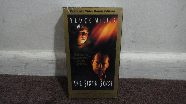 THE SIXTH SENSE - Exclusive Video Bonus Edition, vhs new & sealed!!!! LOOK!!!