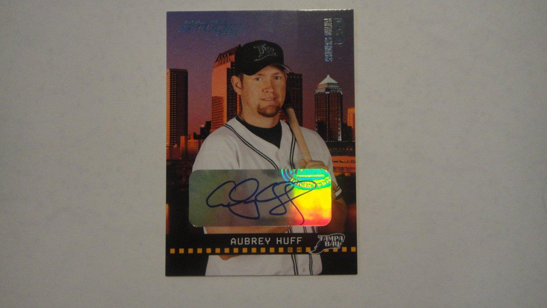 Aubrey Huff Private Signings 2004 Studio, Platinum Autographed Card RARE! #3/10 Mint
