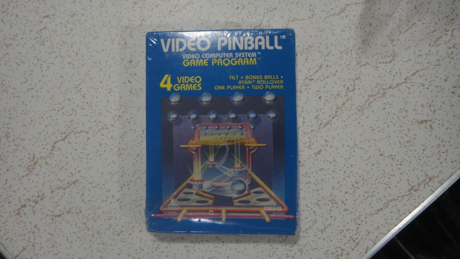 Video Pinball for Atari 2600, new and sealed in the blue box. Look!!