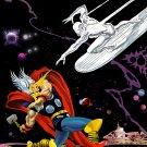 "Thor vs The Silver Surfer Art Print A1 (594x841mm/23.4x33.1"")"