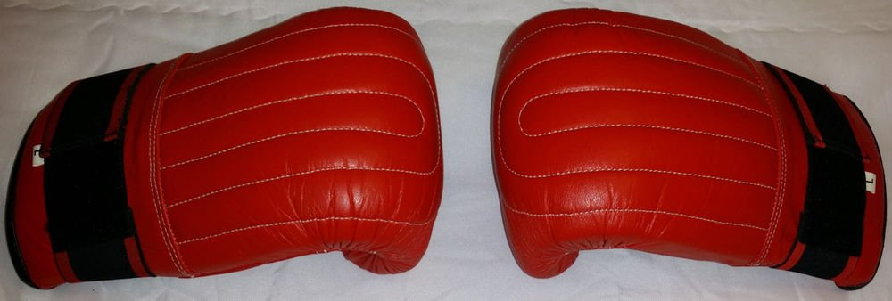 MMA Bag Mitts Muay Thai Training Punching Gloves RED
