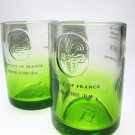 Apple Ciroc Bottle Upcycled Shotglasses, Set of 2, Green