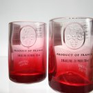 Red Ciroc Bottle Upcycled Shotglasses, Set of 2