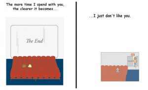 Greeting Cards Sarcastic Don't Like You Cards 034