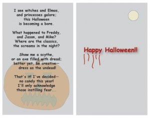 Greeting Cards Sarcastic Halloween Cards 075