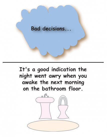 Greeting Cards Sarcastic Bad Decisions Cards 068a