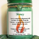 Intention Soy Jar Candle - Money ( Metaphysical / New Age / Pagan / Wicca / Magic )