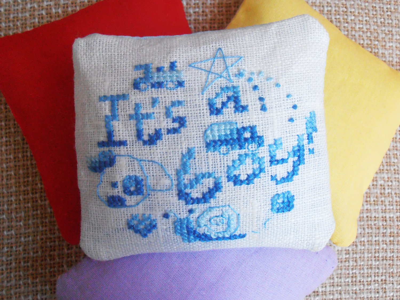 Lavender sachet, preserved lavender, dried lavender, unusual gift, funny cross stitch, lavender bags
