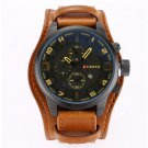 CURREN 8225 Large Dial Quartz Date Fashion Watch. Leather Band. Water-resistant