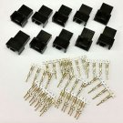 PK OF 10 - MALE 4 PIN FAN POWER CONNECTOR - BLACK INC PINS