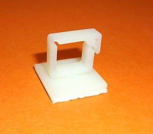 PLUGZ2GO Square Cable Flex Saddle Self Adhesive Base cable Clamp Tie Nylon