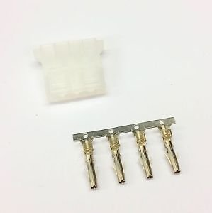 PK OF 5 FEMALE 4 PIN MOLEX PC PSU POWER SUPPLY CONNECTOR - NAT WHITE INC PINS